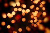 Photo abstract background of christmas orange lights