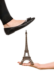 foot trying to crush eiffel tower