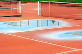 tennis court after heavy rain