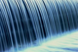 Fotografia closeup of a weir waterfall
