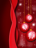 Fotografie background with stars and christmas balls illustration