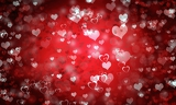 valentines day or wedding background with hearts