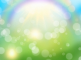 spring color background with rainbow