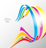 abstract color ribbons background for creative design
