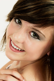 fashion portrait of smiling beautiful teenager girl
