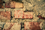 Fotografie toned red brick wall grunge background or texture