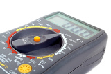 Photo modern digital multimeter isolated on a white background