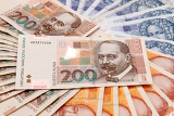 croatian kuna banknotes hrk layed out