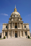 les invalides in paris france with blue sky