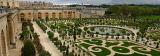 wide panorama of famous versailles orange garden in france