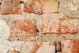Photo red brick wall texture for grunge background use