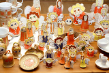 Fényképek handmade ceramic christmas decorations angels and other figures