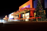 christmas decorated shopping center jihlava czech republic