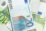 Fényképek background from a lot of euro banknotes