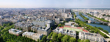 very nice panorama of paris france from eiffel tower