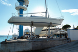 Fotografie yachts service and shipyard in port croatia