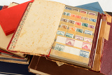 Fényképek very old philatelic stamp collection albums