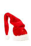 Fotografie red santa hat isolated in white background
