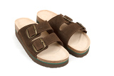 new brown mens sandals isolated on white