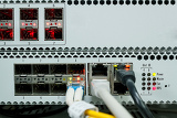 passive optical network technology center with fiber optic equipment