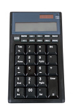 Photo black calculator for notebook isolated on white background