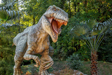 Fotografia model of big tyranosaurus rex in the jungle