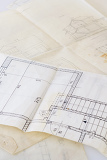 Photo architectural plans of the old paper tracing paper and file with the project