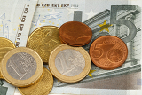 close up macro photography of euro money and coins