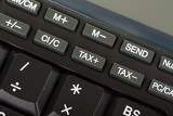keys of the calculator closeup stodio shot focus to key tax