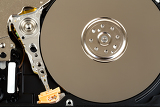 detail of uncovered 25 inch notebook hard drive