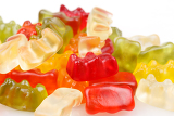 Fotografie gummy bears colorful jelly bear candies set isolated on white