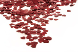 Fotografie small red hearts confetti isolated on white background