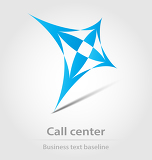Fényképek call center business icon for design needs