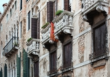detailed view of venetian architecture buildings