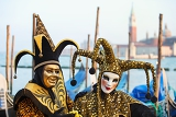 Photo venice italy  february 27 2014unidentified person in carnival mask in venice italy on february 2014documentary images