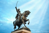 Photo statue of king victor emmanuel ii in venice italy