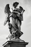 Fényképek City. Art, Baroque sculpture, angel and bridge. Rome - Italy.