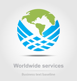 worldwide services business icon for creative design