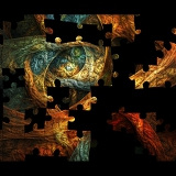 Fotografie colorful creative mosaic background with fractal puzzle for art and entertainment