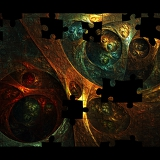 Fotografie colorful creative mosaic background with fractal puzzle for design and entertainment