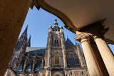 famous historic st vitus cathedral in prague czech republic
