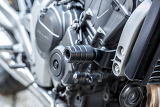 motorcycle engine closeup detail background with shallow focus