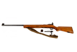 Fotografie old bolt action rifle isolated on white background