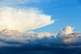 dramatic sky with clouds for background or backdrop use