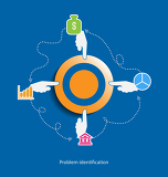 problem identification flat design concept icons for web programmingmobile phone applications  services