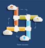 team success flat design concept icons for web programmingmobile phone applications  services