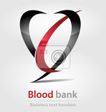 blood bank business icon for creative design