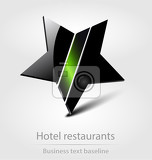 Fotografia hotel restaurants business icon for creative design
