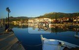 Nidri. Summer and sea. The island, harbor, travel, ship and transport. Greece - Lefkada.