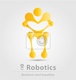 robot and robotics business icon for creative design